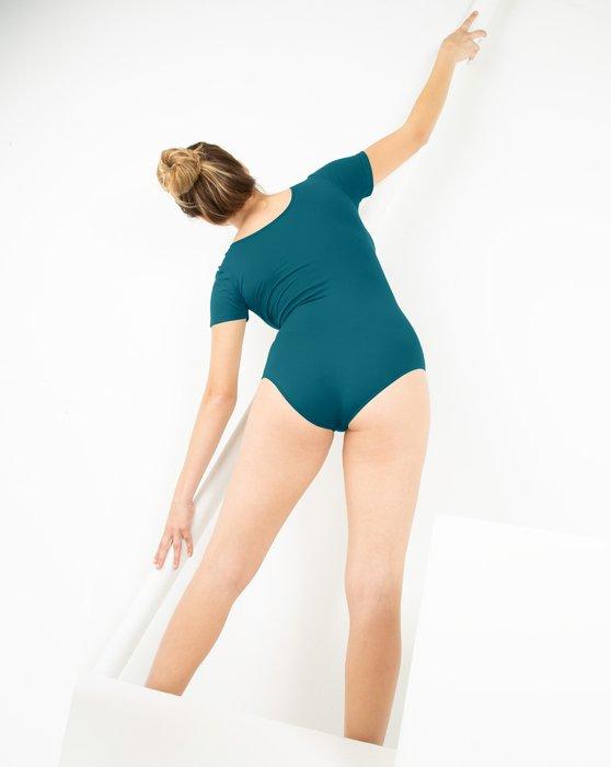 Teal Womens Short Sleeve Bodysuit Style# 5013 | We Love Colors