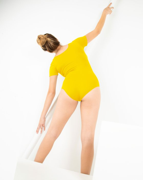 Yellow Short Sleeve Bodysuit Style# 5013 | We Love Colors