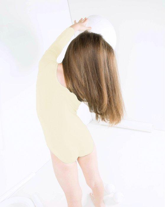 Ivory Kids Long Sleeve Scoop Neck Leotard Style# 5072 | We Love Colors