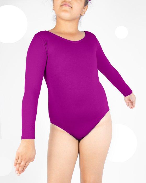 Magenta Kids Long Sleeve Scoop Neck Leotard Style# 5072 | We Love Colors