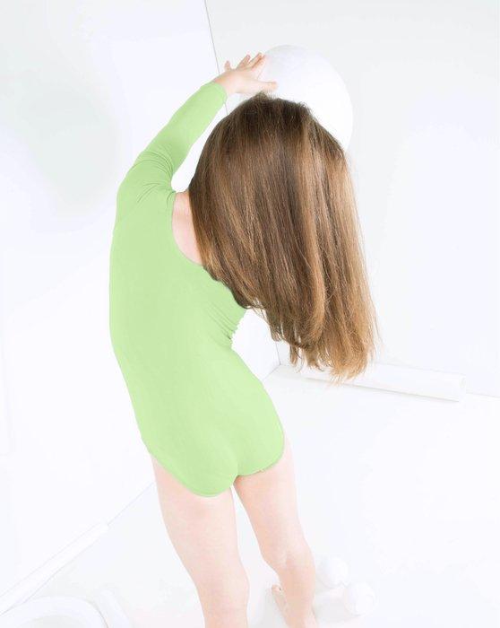 Mint-Green Kids Long Sleeve Scoop Neck Leotard Style# 5072 | We Love Colors