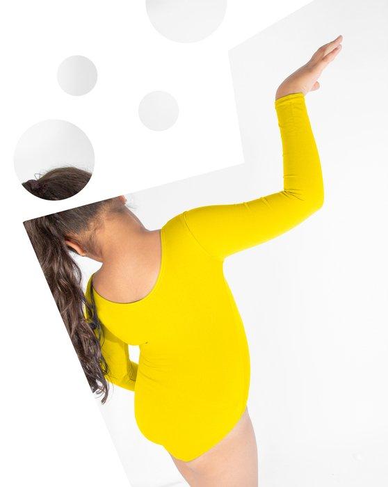 Yellow Kids Long Sleeve Scoop Neck Leotard Style# 5072 | We Love Colors