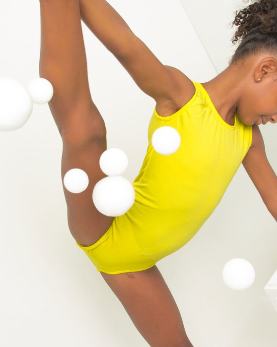 Yellow Closeout Kids Tank Leotard Style# 5075 | We Love Colors