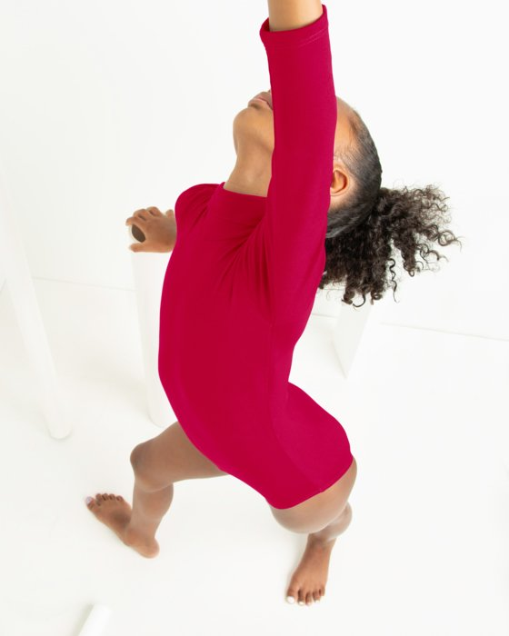 Kids Long Sleeve Mock Turtleneck Leotard Style# 5078 | We Love Colors