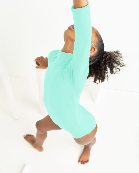 Kids Long Sleeve Mock Turtleneck Leotard Style# 5078   We Love Colors