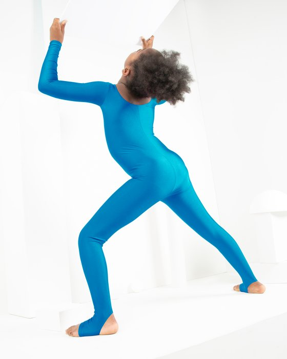 Turquoise Kids Long Sleeve Unitard Style# 5079 | We Love Colors