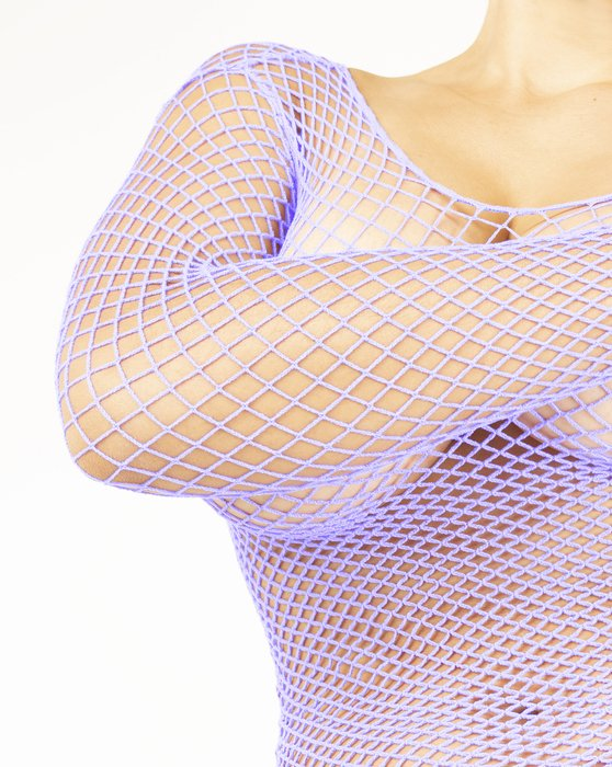 Lilac Womens Fishnet Long Sleeve Shirt Style# 6001 | We Love Colors