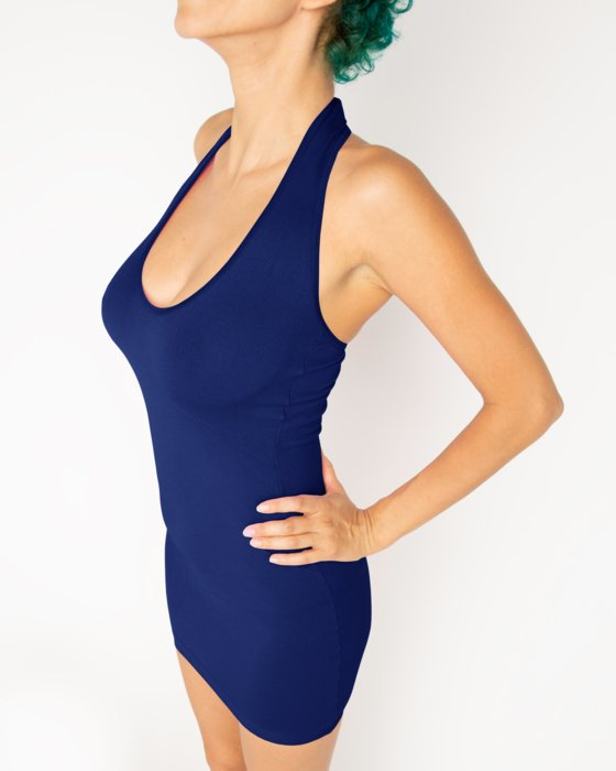 Navy Womens Halter Dress Style# 6025 | We Love Colors