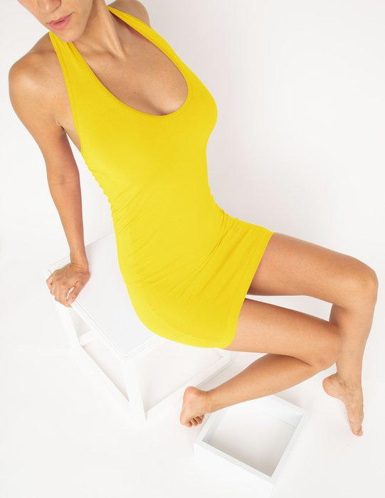Yellow Womens Halter Dress Style# 6025 | We Love Colors