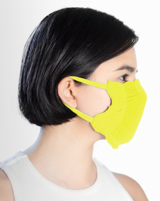 Neon Yellow Washable Color Mask Style# 8021 | We Love Colors