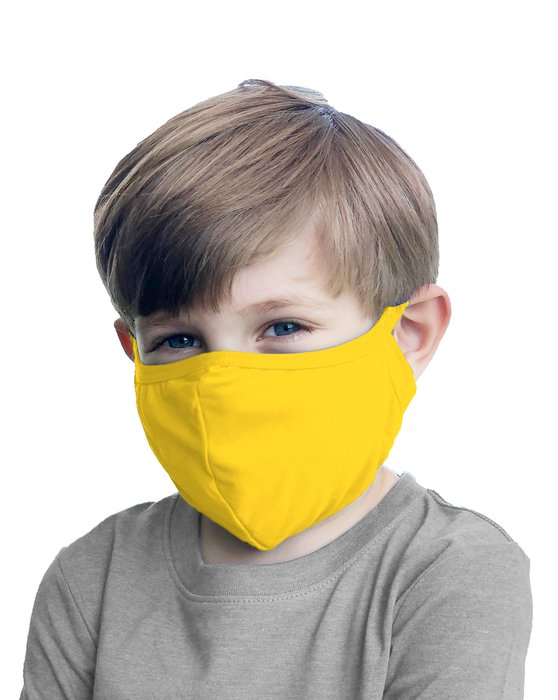 Yellow Kids Washable Color Mask Style# 8075 | We Love Colors
