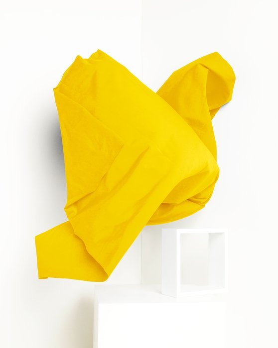 Yellow Fabric Dull Tricot Style# 8101 | We Love Colors