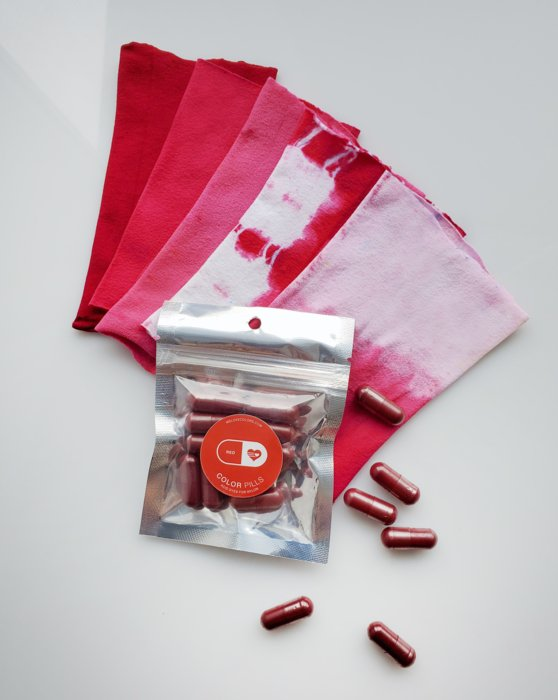 Red Color Pill Pack Of Pro Dyes For Nylon Style# 8701 | We Love Colors