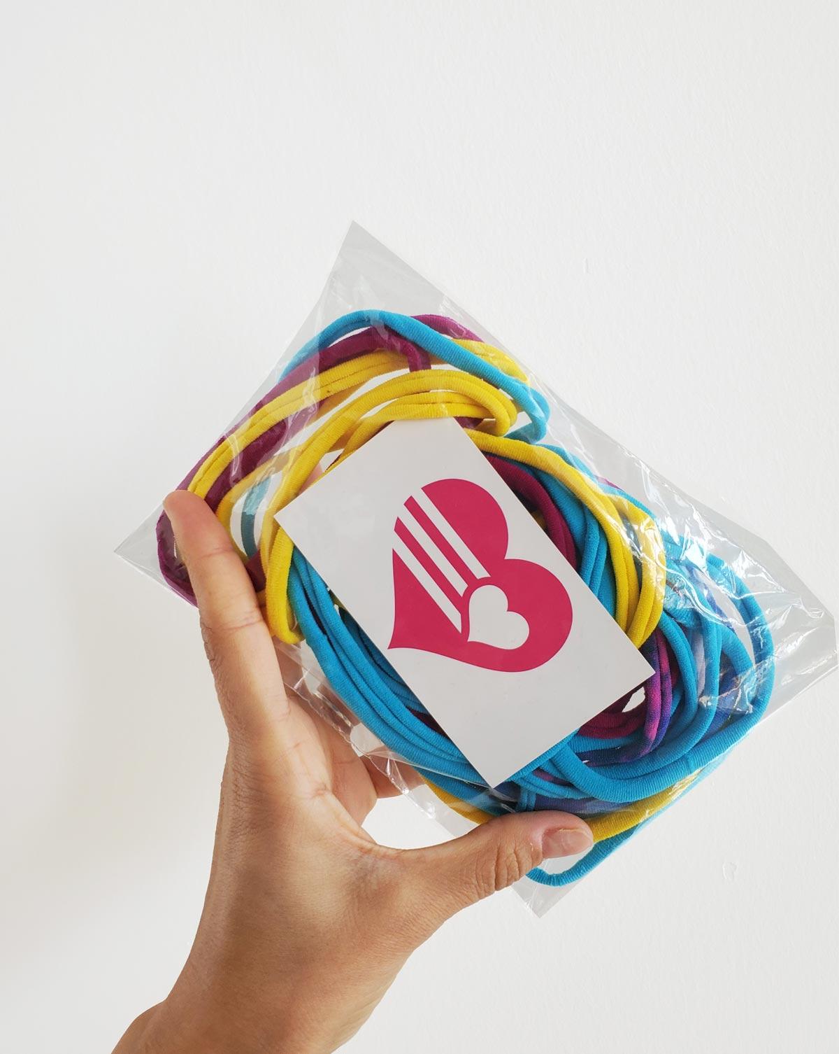 Soft Elastic Loops 50 Pack Style# 8990 | We Love Colors