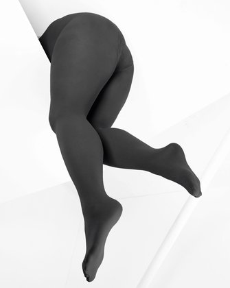 Charcoal Womens Patterned Tights | We Love Colors
