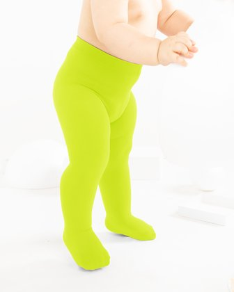 Neon Yellow Kids Tights We Love Colors