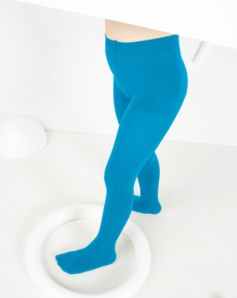 Turquoise Kids Tights | We Love Colors