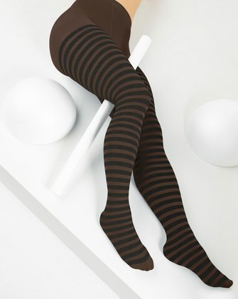 Brown Womens Patterned Tights We Love Colors