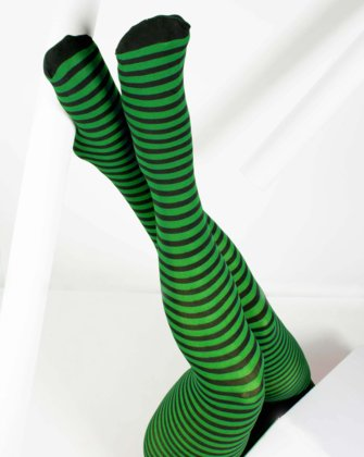 Kelly Green Womens Patterned Tights We Love Colors