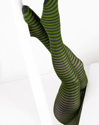 Olive Green Womens Patterned Tights We Love Colors