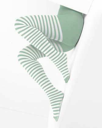 Dusty Green Womens Patterned Tights We Love Colors