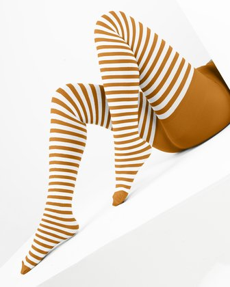 Neon Orange Womens Patterned Tights We Love Colors