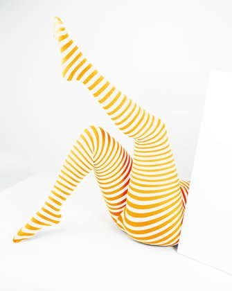 Gold Womens Patterned Tights We Love Colors
