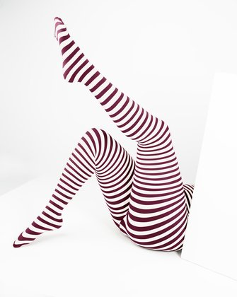 Maroon Womens Patterned Tights We Love Colors
