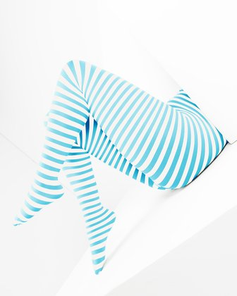Neon Blue Womens Patterned Tights | We Love Colors