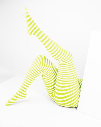 Neon Yellow Womens Patterned Tights We Love Colors