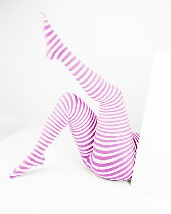 Orchid Pink Womens Patterned Tights We Love Colors