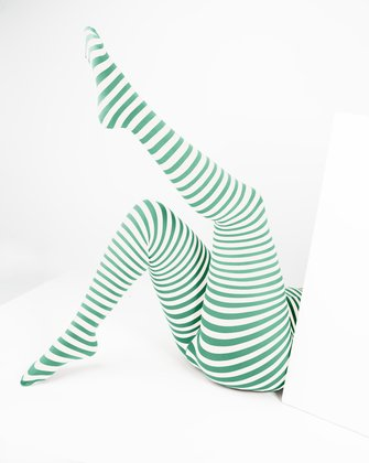 Scout Green Womens Patterned Tights | We Love Colors