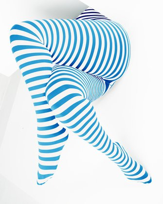 Turquoise Womens Patterned Tights We Love Colors