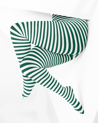 Hunter Green Womens Patterned Tights We Love Colors