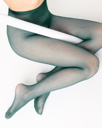 Hunter Green Womens Fishnet Pantyhose | We Love Colors