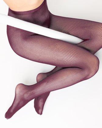 Maroon Womens Fishnet Pantyhose | We Love Colors