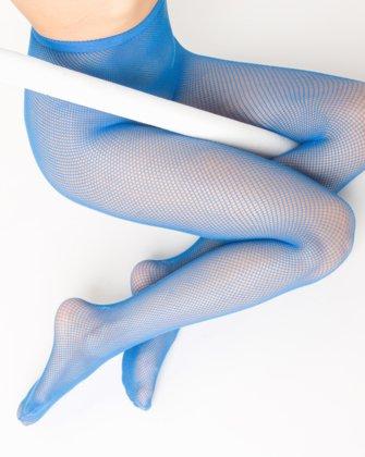 Medium Blue Womens Fishnet Pantyhose | We Love Colors