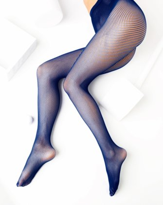 Navy Womens Fishnet Pantyhose | We Love Colors