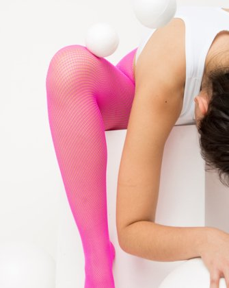 Neon Pink Womens Fishnet Pantyhose We Love Colors