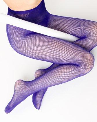 Purple Womens Fishnet Pantyhose | We Love Colors