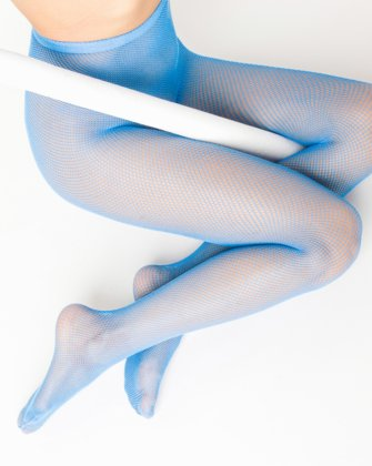 Sky Blue Womens Fishnet Pantyhose | We Love Colors