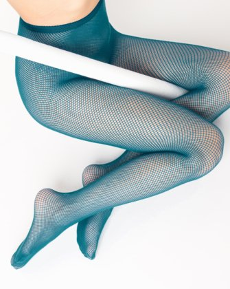 Teal Womens Fishnet Pantyhose | We Love Colors