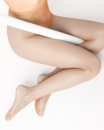 Light Orange Womens Fishnet Pantyhose | We Love Colors