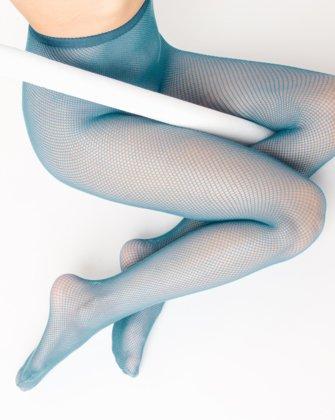 Teal Womens Fishnet Pantyhose We Love Colors