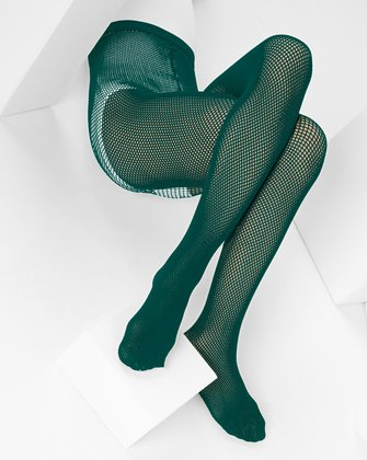 Hunter Green Kids Fishnet Pantyhose | We Love Colors