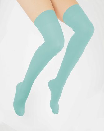 Dusty Green Womens Thigh Highs | We Love Colors