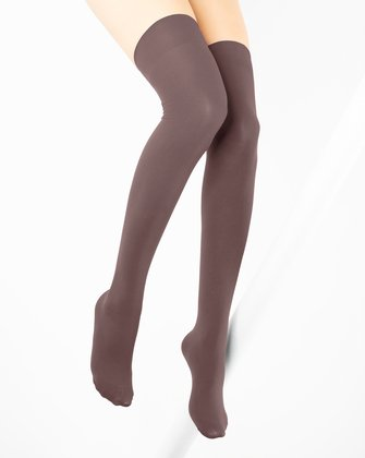 Mocha Womens Thigh Highs | We Love Colors