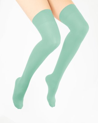 Dusty Green Womens Thigh Highs We Love Colors
