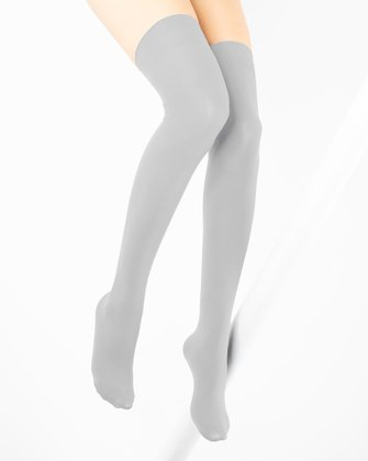 Light Grey Womens Thigh Highs We Love Colors