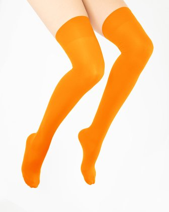 Neon Orange Womens Thigh Highs We Love Colors